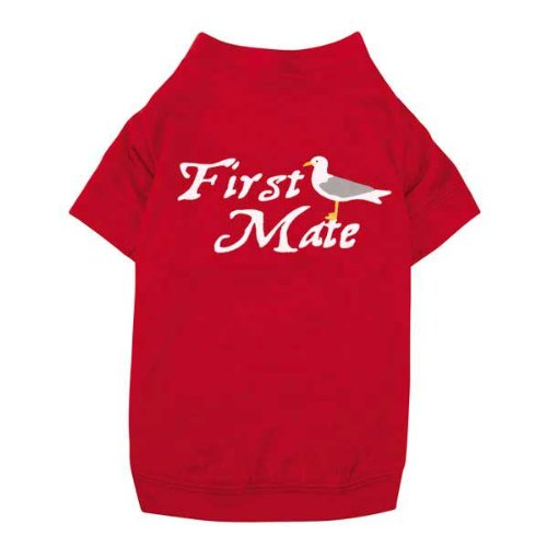 All Paws on Deck First Mate Tee Size: Extra Extra Small (0.25″ H x 8″ W x 7.5″ D), My Pet Supplies