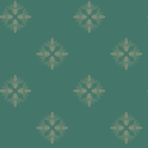 York Wallcoverings ON1645 Honey Bee Wallpaper Gold/Green by York Wallcoverings