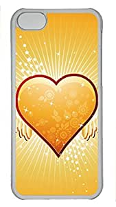 Shell Case for iphone 5C with Love 6 DIY Fashion PC Transparent Hard Skin Case for iphone 5C