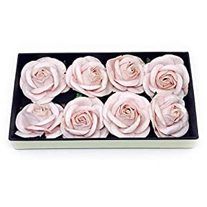 """2"""" Blush Pink Paper Flowers Paper Rose Artificial Flowers Fake Flowers Artificial Roses Paper Craft Flowers Paper Rose Flower Mulberry Paper Flowers 10 Pieces 23"""