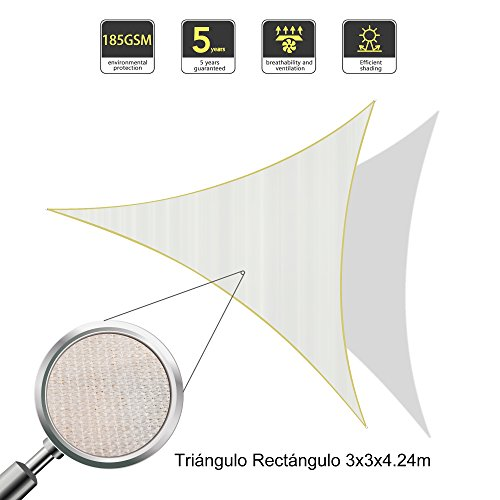 SUNLAX-3x3x42m-Right-Triangle-Sun-Shade-Sail-Anti-UV-Awning-Canopy-for-Outdoor-Patio-Garden-Cream
