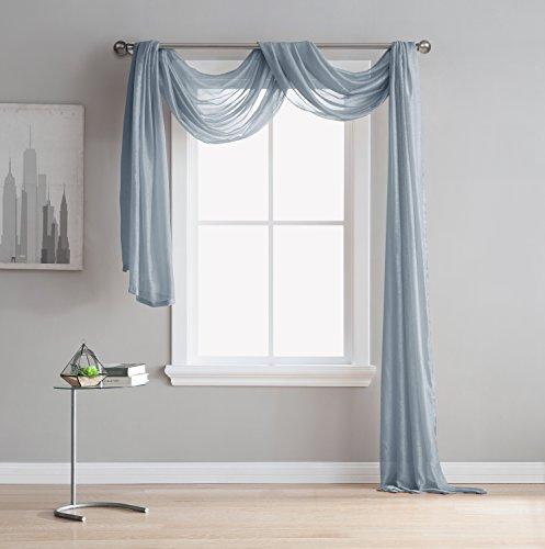 Jane Semi Sheer Window Scarf 54 X 144 Elegant Home