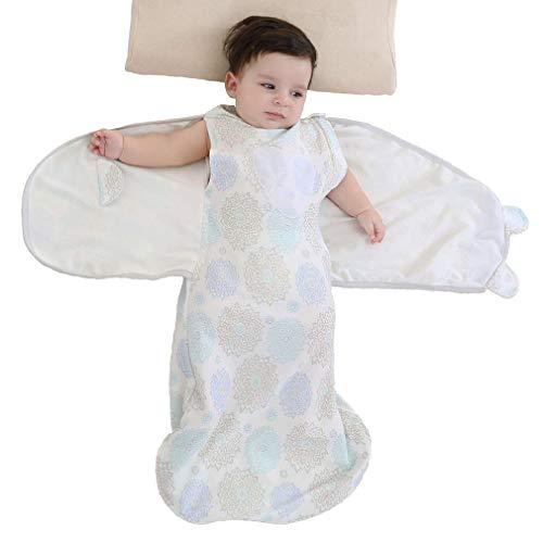Enrich YLife Baby 100% Cotton Sleeping Bag Sleepsack Swaddle Wearable Blanket for Boys and Girls, 4 Season, 3-12 Months (Purple)