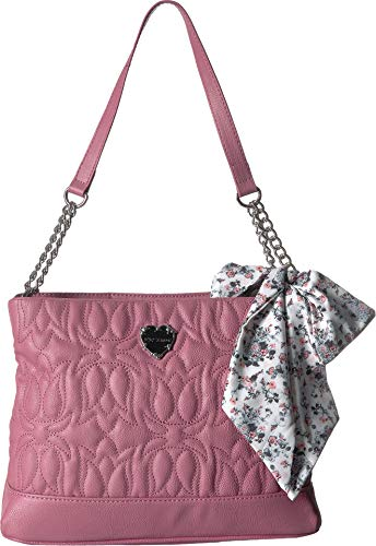 - Betsey Johnson Women's Shoulder Bag with Scarf Rose One Size