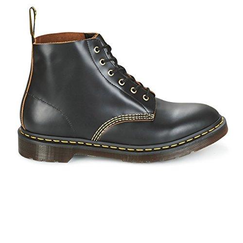 Dr. Martens Men's 101 Arc Vintage Smooth 6-Eye Boots, Black, 10 M UK, 11 M US -