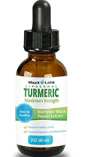 Turmeric Liquid ★ Highest Potency 800mg ★ Liposomal Tumeric Drops with BioPerine Black Pepper Extract - Antioxidant, Pain Relief, Joint Support - Turmeric Root Curcumin Liquide - Non-GMO - 2oz (Root Extract Turmeric)
