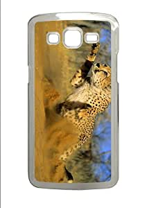 fashion cover cheetah running sand PC Transparent case/cover for Samsung Galaxy Grand 2/7106