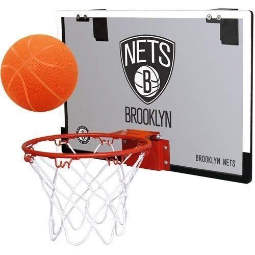 Rawlings NBA Brooklyn Nets 00664194111NBA Game On Polycarbonate Hoop Set (All Team Options), Black, Youth ()