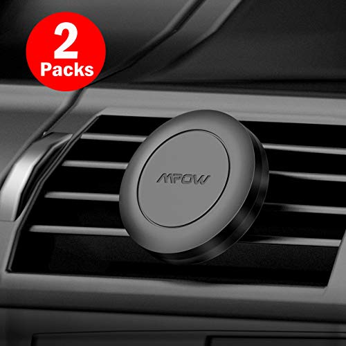 Mpow Magnetic Car Mount, Strong Magnet Air Vent Cell Phone Holder [2 Packs] with 4 Metal Plates for iPhone 11/11 Pro/X/XS/XS Max/XR/8 Plus Galaxy S9/S9 Plus/S8/S8 Plus Motorola and more