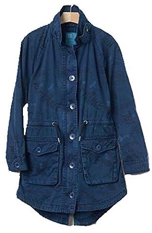 Gap Kids Girls Blue Statement Dance Trench Jacket XS 4 5 - Gap Girls Jacket