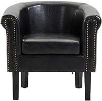 Astonishing Amazon Com Festnight Vintage Club Chair Faux Leather Tub Frankydiablos Diy Chair Ideas Frankydiabloscom