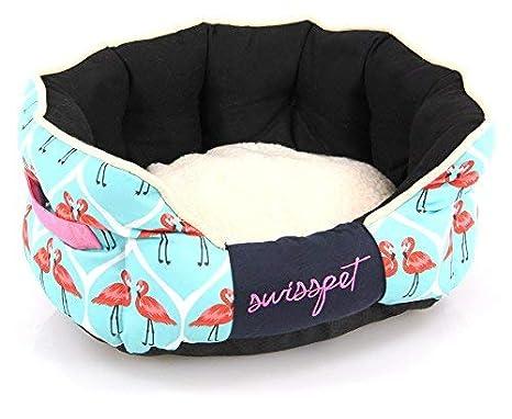 SwissPet Cama para Perro/Gato Cama Flamingo | Espacio Dormir Cómodo para Perros y Gatos, con Diseño de Flamencos: Amazon.es: Productos para mascotas