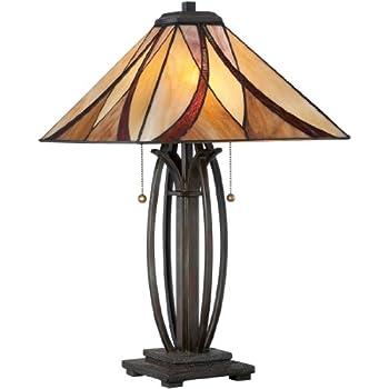 Quoizel TF6669VB, Tiffany, 2-Light Table Lamp, Vintage Bronze ...