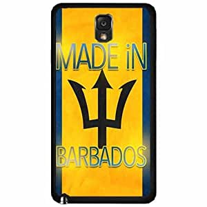 Made In Barbados Plastic Phone Case Back Cover Samsung Galaxy Note III 3 N9002