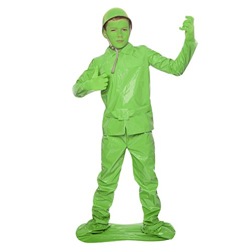 Morphsuits Saving Private Morph Green Toy Soldier Costume (Age 8 to 10), Medium - Toy Soldier Green Costume