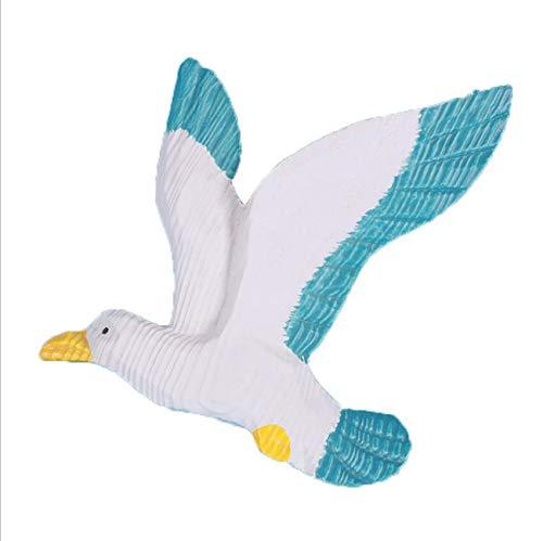 Isa Estilo mediterráneo Gaviota Volando pájaro Aves Marina Fondo Pared decoración Resina artesanía,M