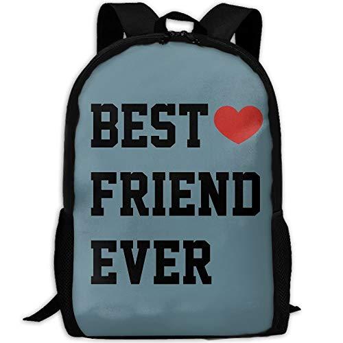 Funny Best Friend Ever Print Custom Casual School Bag Backpack Multipurpose Travel Daypack For Adult