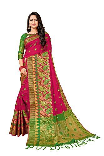 Pramukh suppliers women Self Design Fashion Jacquard, Cotton Silk Saree