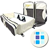 3 in 1 Portable Baby Diaper Bag & Baby Travel Bag, Infant...
