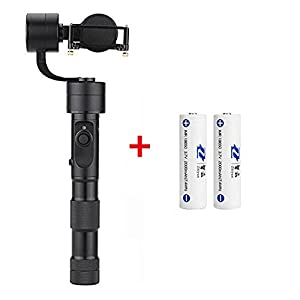 Zhiyun Evolution (with 2pcs extra batteries and tripod stand) 3-Axis Handheld Gimbal Action Camera Stabilizer for GoPro HERO5 HERO4 HERO3 for Yi Cam 4K for AEE and similar size Action Cameras