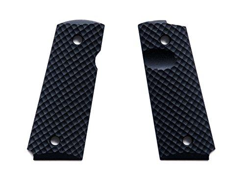 E Gun Grips H2-J7-1 Beautiful Custom G10 Tactical Pistol Grips for Compact Size 1911 Handguns, Black