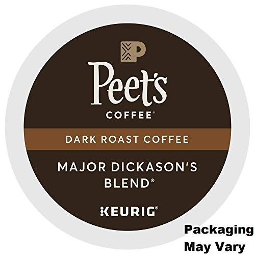 Peet's Coffee Major Dickason's Blend Dark Roast for Keurig K-Cup Brewers (88 Count) – Packaging May Vary