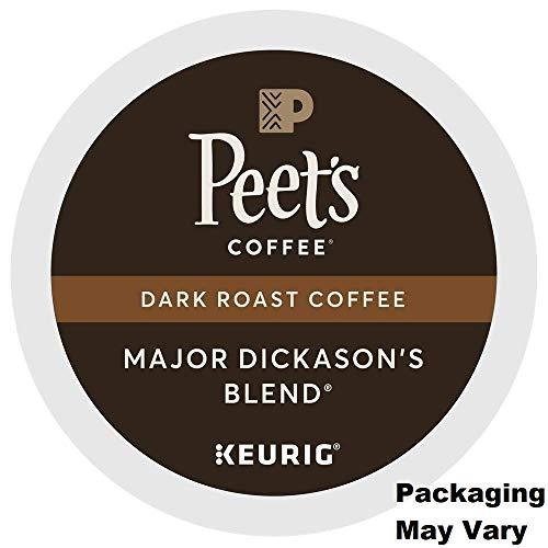 Peet's Coffee Major Dickason's Blend Dark Roast for Keurig K-Cup Brewers (88 Count) - Packaging May Vary (Kcups Peets Coffee)
