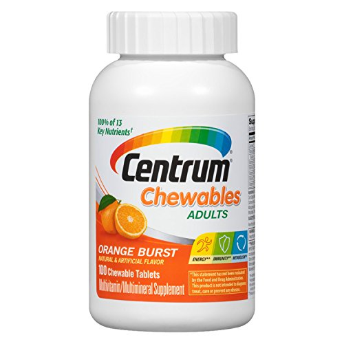 Senior Formula 100 Tablets - Centrum Adult (100 Count) Multivitamin/Multimineral Supplement Chewable Tablet, Vitamin D3