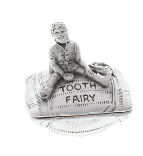 (A.E. Williams Pewter Tiny Trinket Wee Box Little Boy Tooth Fairy on Pillow)