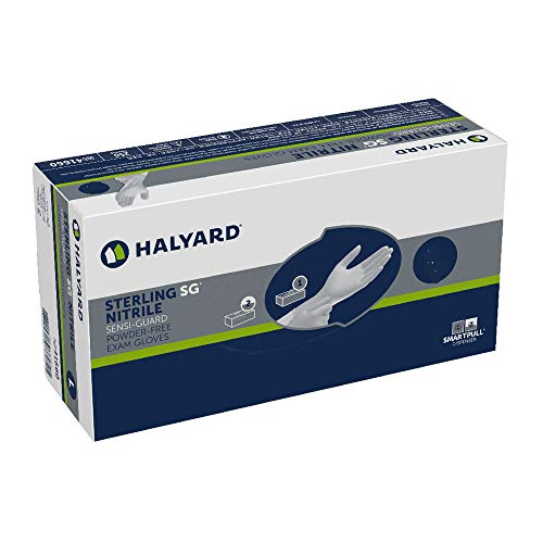 HALYARD STERLING SG Exam Gloves, Powder-Free, Sensi-Guard, 3.7 mil, X-Large, 41660 (Box of 250)
