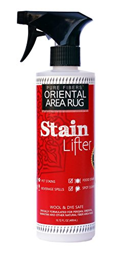 Pure Fibers Oriental Area Rug Stain Lifter - Perfect for Your Heirlooms Quality Oriental Rugs