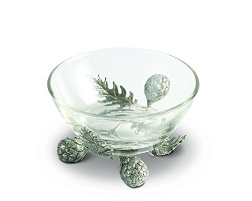 Vagabond House Pewter Artichoke Dip Bowl - Small 5