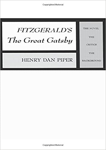 Critical essays on the great gatsby