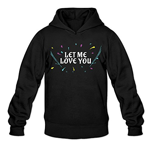 Let Me Love You Jb Classic Men's Hooded Hoodies Black XL ()