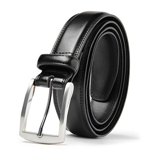 - Mark Fred Men's Genuine Leather Dress Belt, Handmade, 100% Cow Leather