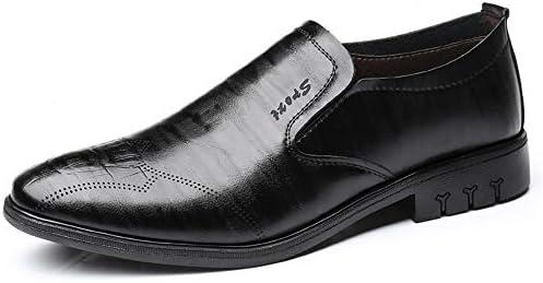 流行の靴の流行に敏感なメンズファッションオックスフォードカジュアルロートップ通気性のピュアカラースリップ 快適な男性のために設計