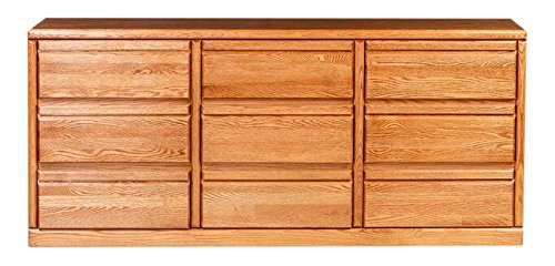 Forest Designs FD-3044- BG- CA Bullnose Nine Drawer Dresser, 72