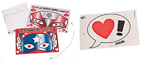 Superhero Valentines (24 Pcs)
