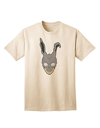 [TooLoud Scary Bunny Face Adult T-Shirt - Natural - Medium] (Frank The Bunny Costume High Quality)