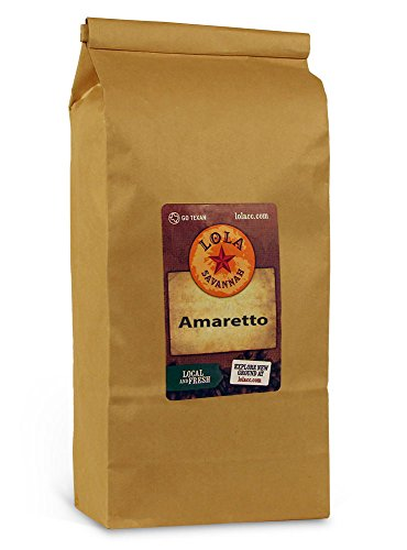 Lola Savannah Amaretto Ground Coffee - Roasted Arabica Beans Brings Traditional Italian Flavors to Your Cup | Caffeinated | 2lb Bag
