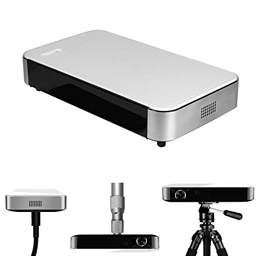 Best Price of Mini Portable LED Projector HD 3D DLP Smart Home Theater System Projector Andriod 4.4 WIFI Bluetooth 1500LM 1280*800P for Android Apple Phone Home Cinema Theater Games Education Business Party Meeting
