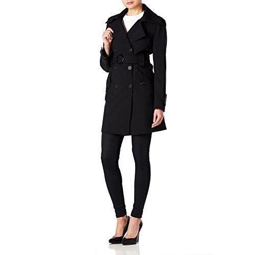 Women Anastasia Spring Coat Trench Nero For xq7B6q