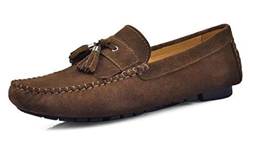 Crc Mens Mode Casual Komfort Slip På Hög Kvalitet Mocka Walking Kör Båt Skor Khaki