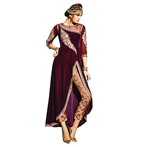 Indian Pakistani Suit Bollywood Ethnic Semi Stitched Desi...
