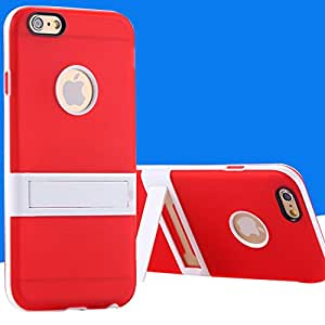 Triangle Bracket Video Display Support Case For iphone 6 Plus 5.5inch Controllable Handle Back Cover + White Frame TPU RCD04337 --- Color:red