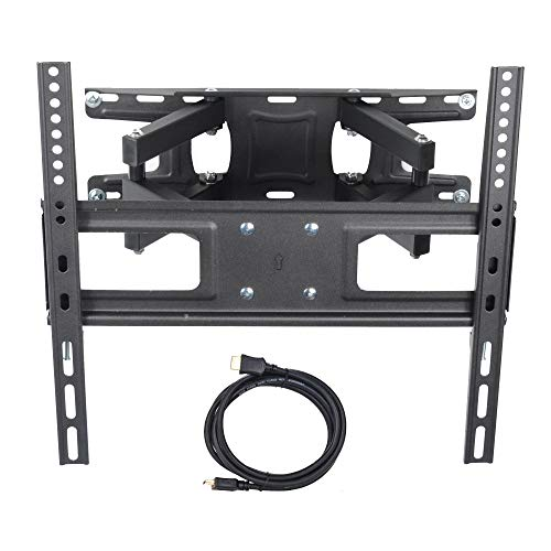 (VideoSecu MW340B2 TV Wall Mount Bracket for most 32-65 Inch LED, LCD, OLED and Plasma Flat Screen TV, with Full Motion Tilt Swivel Articulating Dual Arms 14