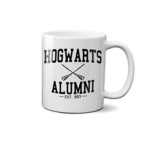 Harry Potter Hogwarts Alumni Funny Novelty Gift Mug Coffee Tee Cup (boxed) Present White Ceramic Mug 330ml/ 11Oz. (Alumni Tee)