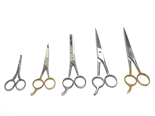 Drawer Profile Set (Angelwing Dog Pet Professional Grooming Cutting Hair Thinning Scissors Shears Variety Set 5pcs)