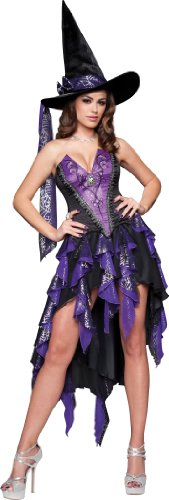 InCharacter Costumes Women's Bewitching Beauty Witch Costume, Black/Purple, Medium
