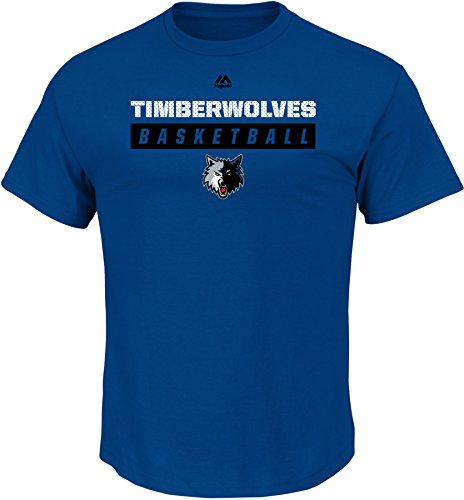 NBA Minnesota Timberwolves Men's Proven Pastime Short Sleeve Crew Neck Tee, Medium, Stadium Blue
